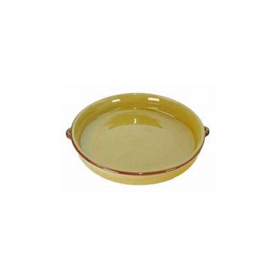 schaal rond tapas geel 28 cm