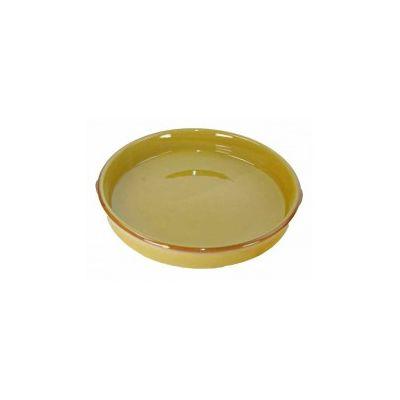 schaal rond tapas geel 30 cm