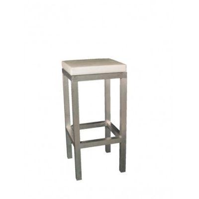 barkruk aluminium wit